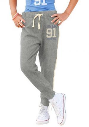 Трикотажные брюки с эффектом меланж Arizona. Цвет: серый (меланж)