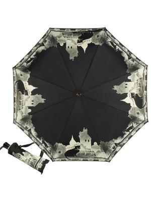 Зонт складной Cats Noir Guy De Jean. Цвет: черный, белый