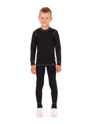 Термокомплект: лонгслив, рейтузы, Woolly Lynxy. Цвет: черный, прозрачный, серо-голубой