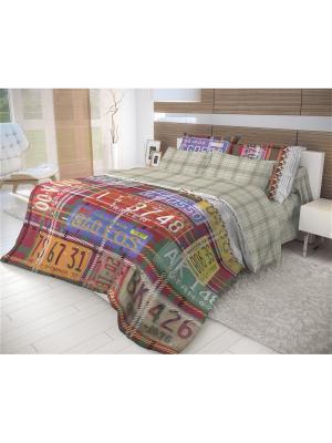 Комплект постельного белья Волшебная ночь ЕВРО, 70*70, Nevada. Цвет: желтый, зеленый, коричневый, красный, оранжевый, синий