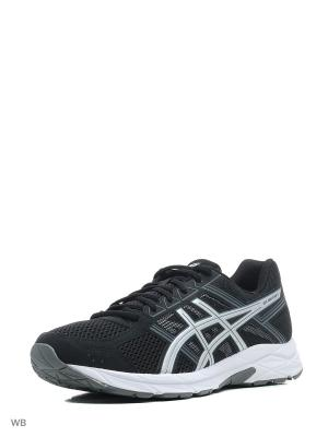 Кроссовки ASICS GEL-CONTEND 4. Цвет: серебристый, серый, черный