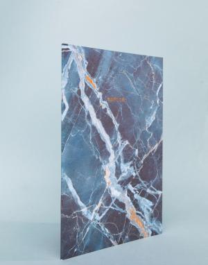 OHH DEER Синий блокнот с мраморным принтом формата A4. Цвет: мульти