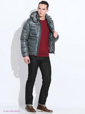Куртка LEE. Цвет: темно-зеленый, серый