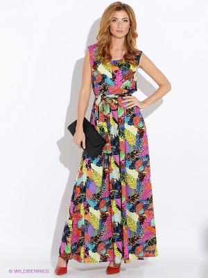 Платье MARBI. Цвет: оранжевый, розовый