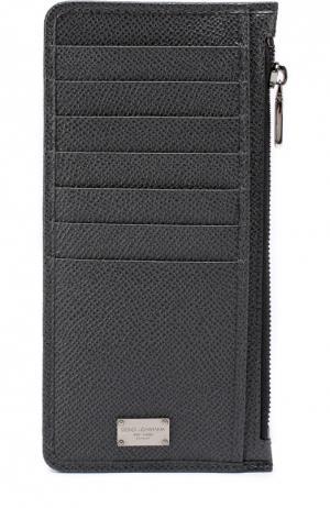 Кожаный футляр для кредитных карт с отделением монет Dolce & Gabbana. Цвет: серый