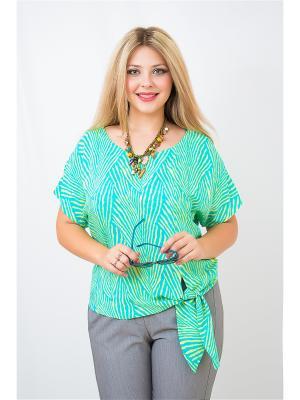 Блуза BALSAKO. Цвет: бирюзовый, желтый