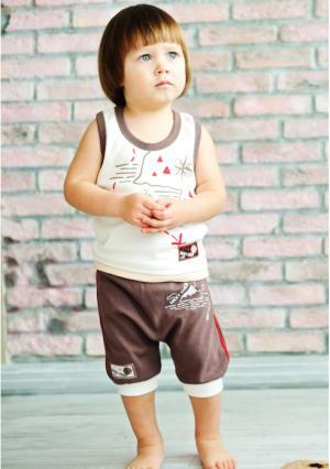 Майка Lucky child. Цвет: коричневый (кофейный)