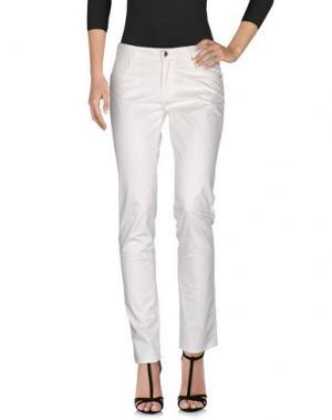 Джинсовые брюки BLUE LES COPAINS. Цвет: слоновая кость