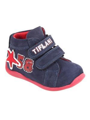 Детская обувь TIFLANI. Цвет: темно-синий, красный