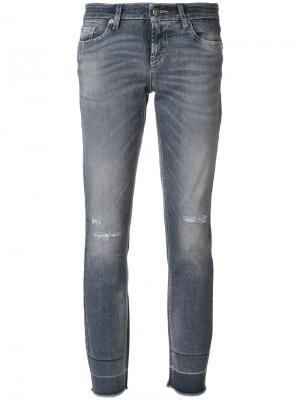Укороченные джинсы Liu Cambio. Цвет: серый