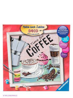 Набор для рисования Кофе Ravensburger. Цвет: бежевый, розовый, серый, коричневый