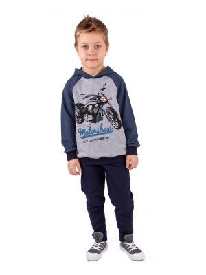 Комплект одежды Апрель. Цвет: серый, темно-синий, синий