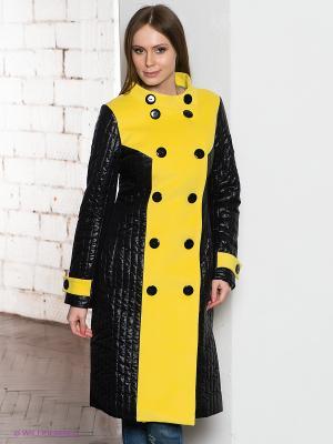 Пальто DOCTOR E. Цвет: желтый, черный