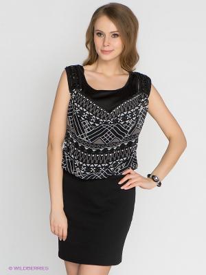Платье Vero moda. Цвет: черный, серый, белый