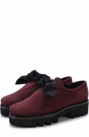 Замшевые ботинки Fabula с внутренней отделкой из овчины Walter Steiger. Цвет: бордовый