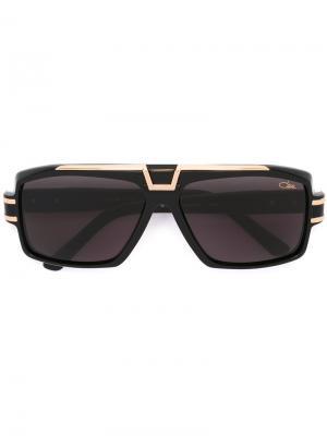 Большие солнцезащитные очки Cazal. Цвет: чёрный