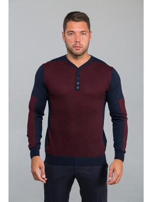 Пуловер John Jeniford. Цвет: бордовый