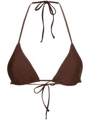 Лиф String Triangle от купальника Matteau. Цвет: коричневый