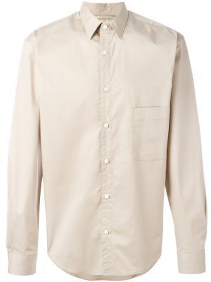 Рубашка с нагрудным карманом Lemaire. Цвет: телесный