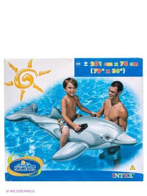 Дельфин с ручками Intex. Цвет: серый