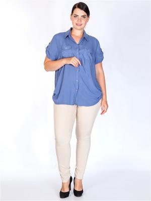 Блузка HELLO MODA!. Цвет: синий
