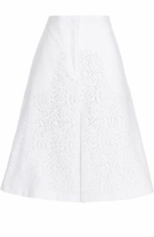 Кружевные широкие шорты No. 21. Цвет: белый