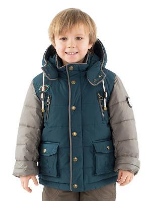 Куртка Pulka. Цвет: темно-зеленый