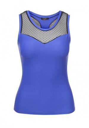 Майка спортивная Dali. Цвет: синий