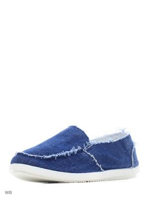 Мокасины SVEMM. Цвет: синий