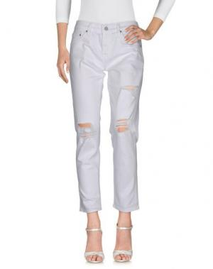 Джинсовые брюки AG ADRIANO GOLDSCHMIED. Цвет: белый