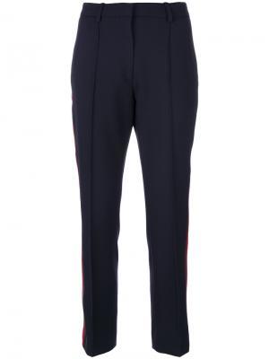 Спортивные брюки с лампасами Victoria Beckham. Цвет: синий
