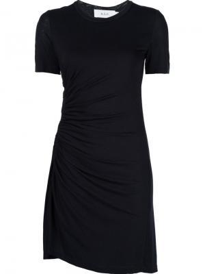 Платье с присборенной отделкой A.L.C.. Цвет: чёрный