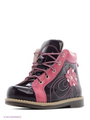 Ботинки Детский скороход. Цвет: темно-бордовый, розовый