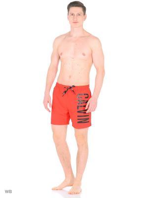 Бордшорты Calvin Klein. Цвет: красный