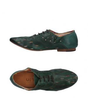 Обувь на шнурках UIT. Цвет: изумрудно-зеленый
