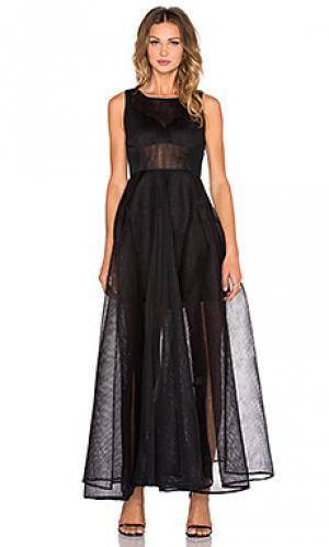 Макси платье babylon Bronx and Banco. Цвет: черный