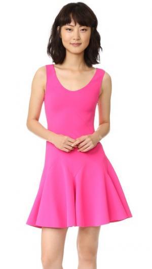 Мини-платье без рукавов с клиньями годе Derek Lam 10 Crosby. Цвет: ярко-розовый