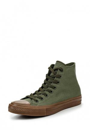 Кеды Converse. Цвет: зеленый
