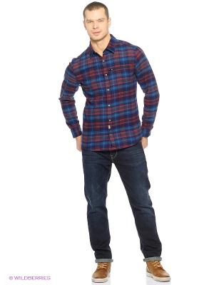 Рубашка CONVECTION SHIRT LS M Jack Wolfskin. Цвет: синий