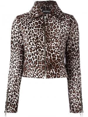 Куртка с леопардовым узором Misbhv. Цвет: коричневый