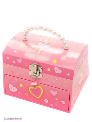 Музыкальная шкатулка Jakos. Цвет: розовый