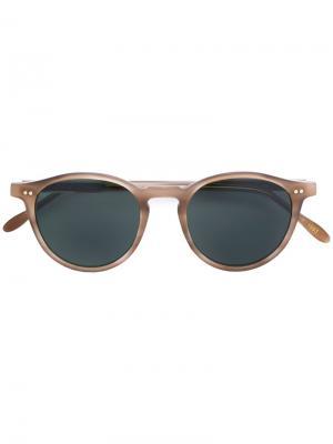 Круглые очки с затемненными линзами Pantos Paris. Цвет: коричневый