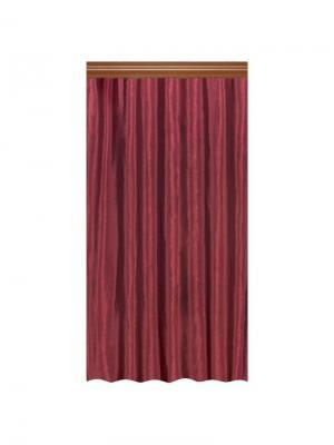 Штора Пастель баклажан 200*270, шт Seasons. Цвет: терракотовый, фиолетовый