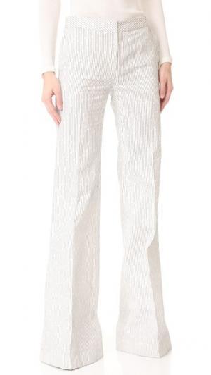Широкие брюки в полоску pushBUTTON. Цвет: полоска цвета слоновой кости