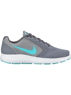Кроссовки WMNS REVOLUTION 3 Nike. Цвет: серый, зеленый