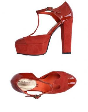 Туфли ALBERTO MORETTI. Цвет: кирпично-красный