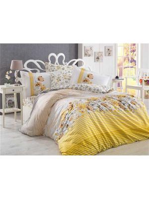 Кпб 2 сп. (Евро) поплин FIESTA желтый HOBBY HOME COLLECTION. Цвет: желтый