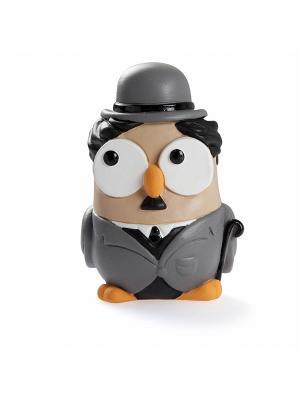 Керамическая статуэтка сова Чарли Чаплин, Goofi. Цвет: белый
