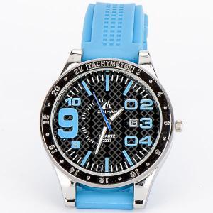 Часы Спорт силикон, арт. WT-188 Бусики-Колечки. Цвет: синий
