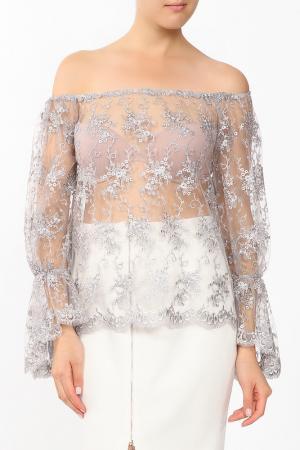 Блуза MSW ATELIER. Цвет: серый